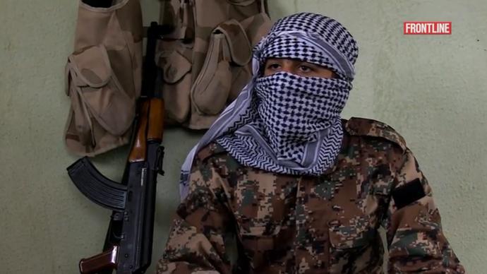 Screenshot from Frontline documentary